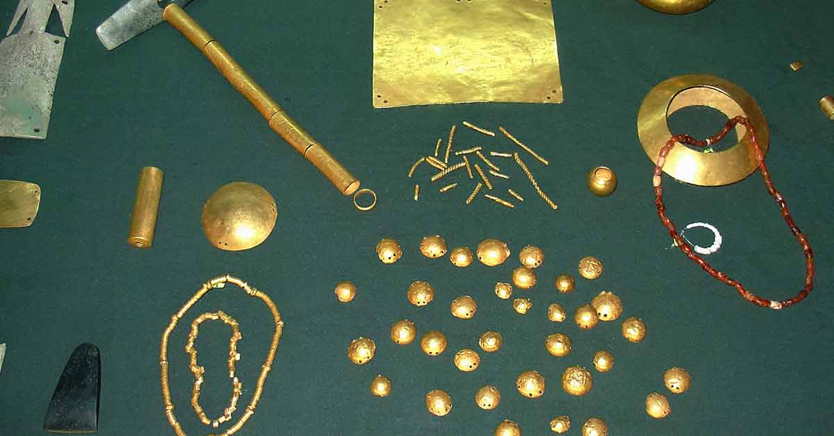Les plus vieux objets en or du monde
