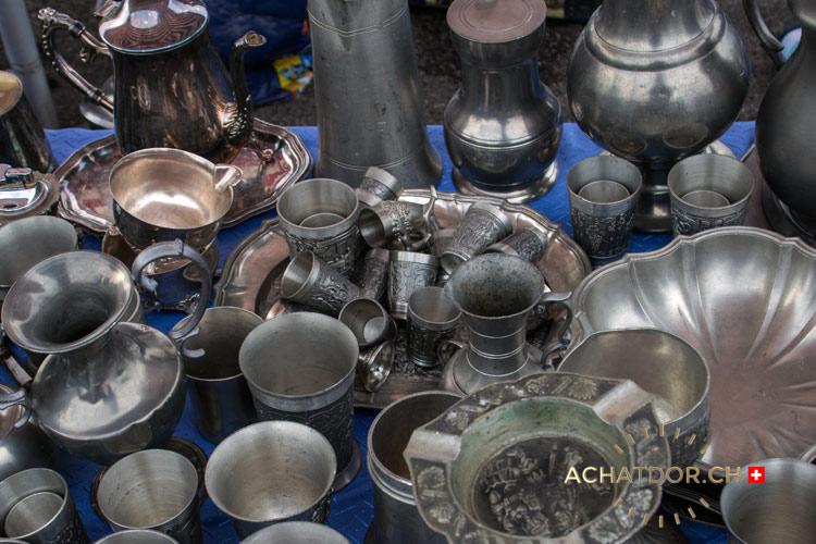 Photo de vases en étain