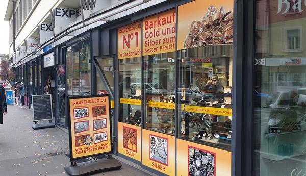 boutique achat d'or à Bâle