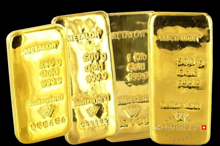 Lingots d'or achat d'or